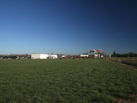 Albany Oregon Commercial Development Land with Large Billgoard