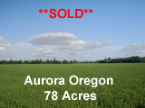 77 Acres Aurora Oregon Irrigated Farmland for sale