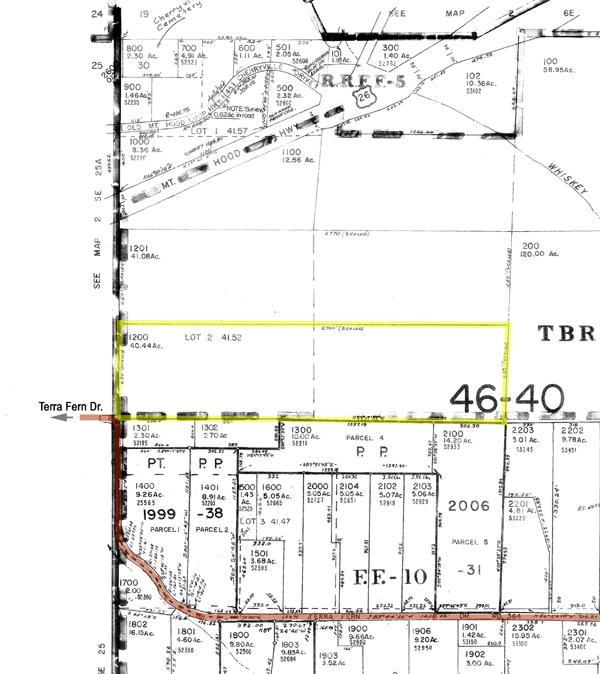 Map Of 40 Acre Estate Site For Sale Sandy Oregon