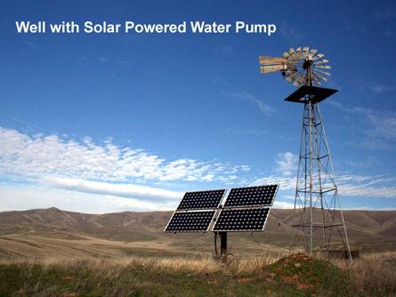Well with Solar Powered Water Pump