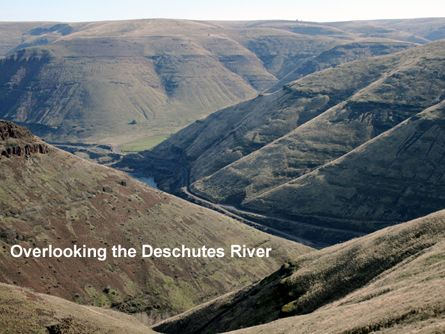 Overlooking the Deschutes River