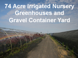 Irrigated Greenhouse Nursery for sale