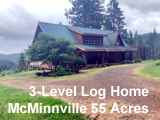 Oregon Vineyard Land with Log Home in McMinnville, Oregon