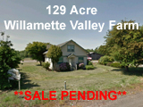 129 Acres Willamette Valley Agricultural Land