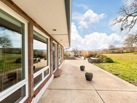 Expansive concrete deck perfect for entertaining
